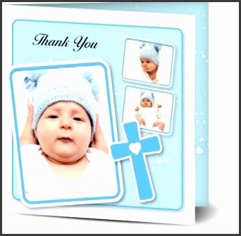 Boy Baptism Thank You Cards