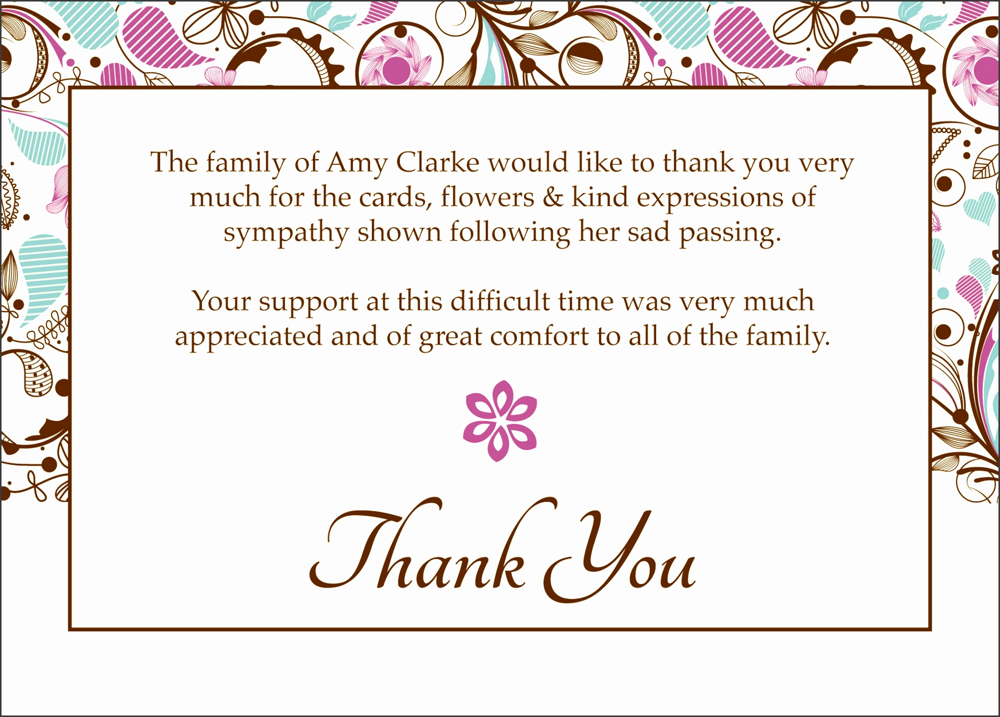 Free funeral thank you cards templates ideas