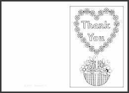 Thank you card colouring templates SB5264 SparkleBox