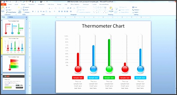 Powerpoint Thermometer Chart