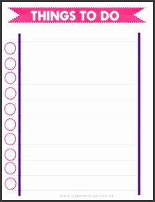 Free Things to Do List Printable