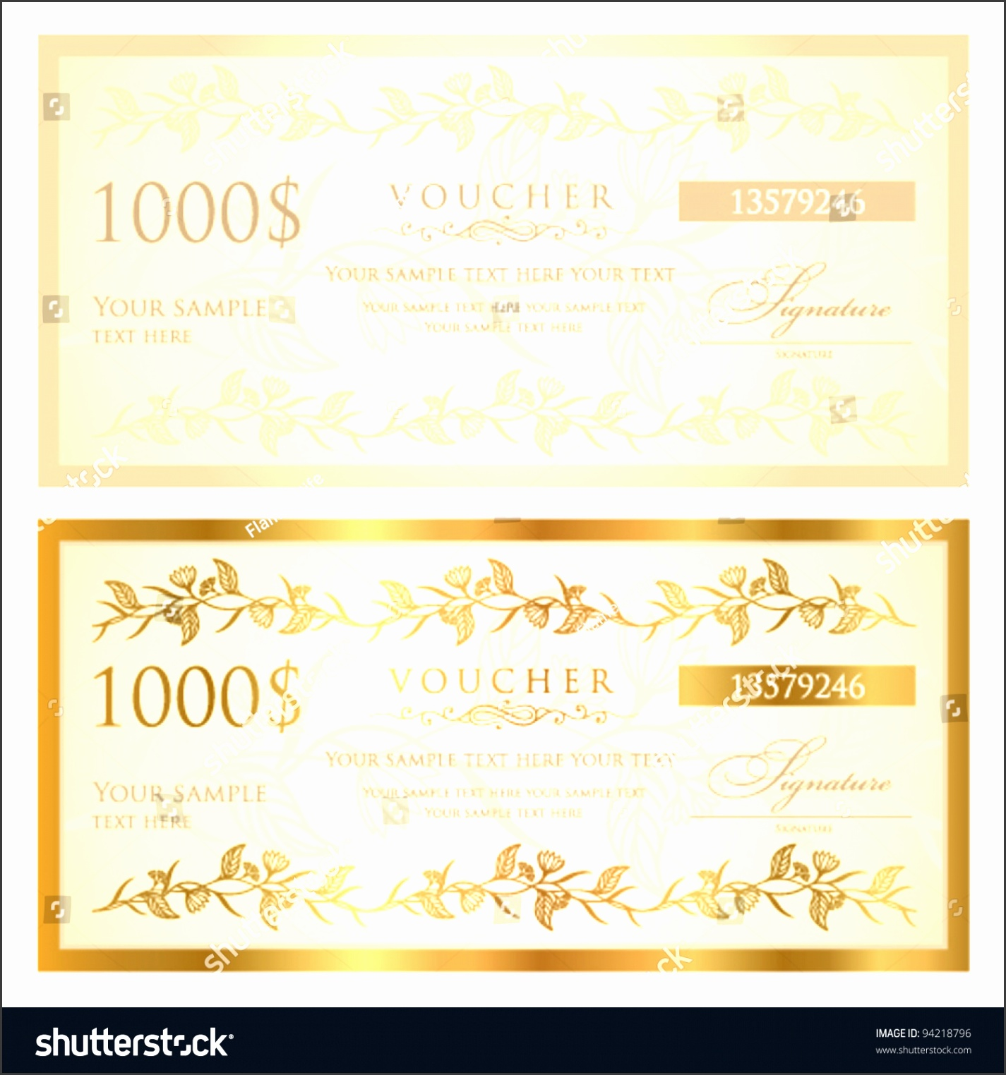 Voucher template with floral pattern This design usable for t voucher coupon diploma