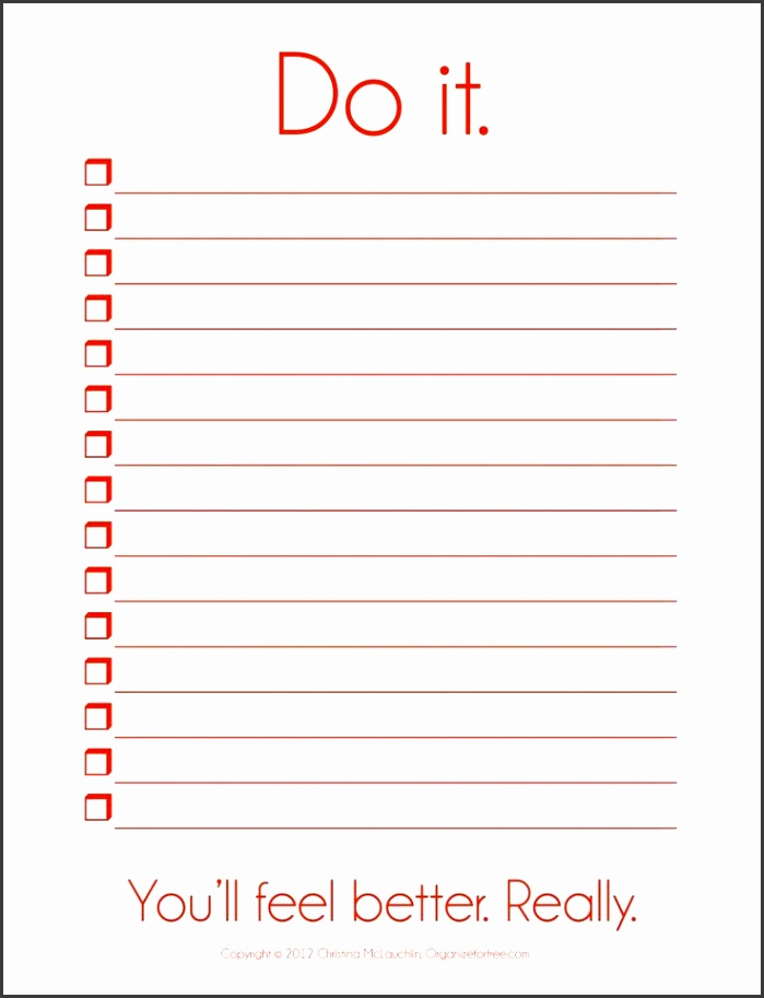 Blank To Do List Template To Do List Template Pdf Free To Do List Download
