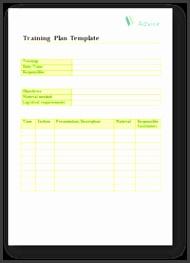 Training Plan Template 6