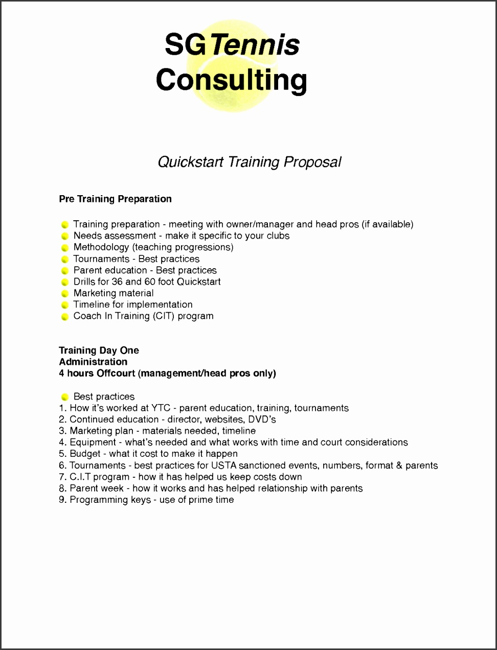 8 Training Proposal Template Timeline Template