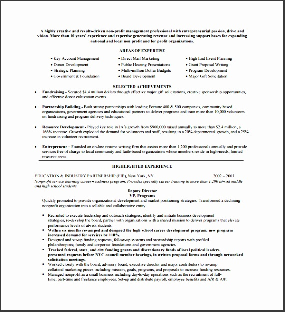 Sample Non Profit Proposal Template 7 Free Documents In Pdf