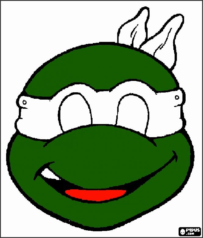 printable ninja turtle mask coloring