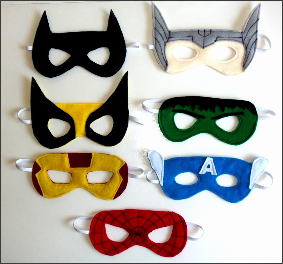 Felt Superhero Mask Templates