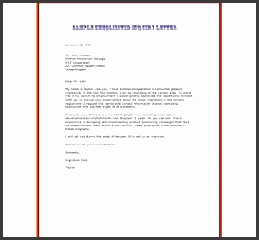 Unsolicited application letter free sample letters