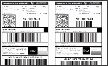 Thermal Printing Ups And Fedex Labels From The Web Browser pertaining to Ups Shipping Label Template