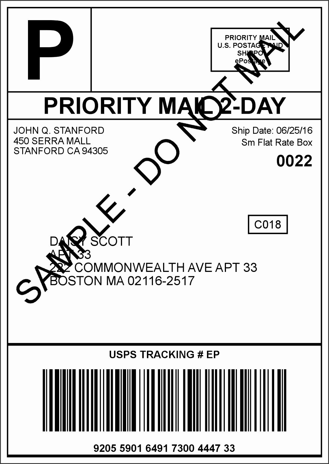 10 usps shipping label template free sampletemplatess. Black Bedroom Furniture Sets. Home Design Ideas