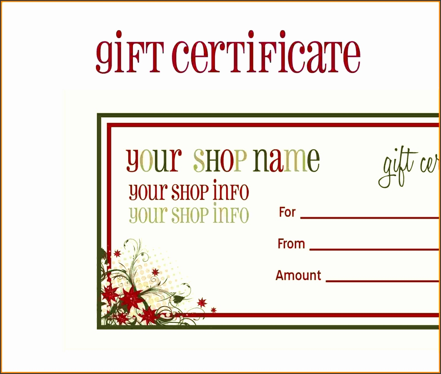 Collection solutions 7 Voucher Template Free Printable for Free Christmas Voucher Template