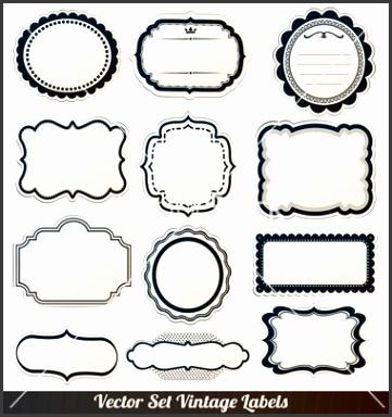Frame labels set ornamental vintage decorat vector by alvarocabrera on VectorStock