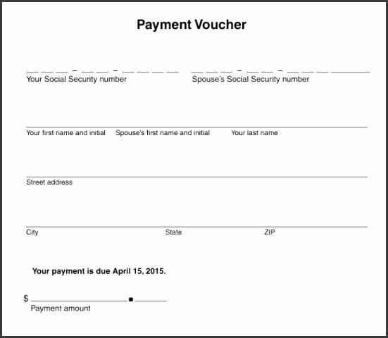 Payment Voucher Template PDF