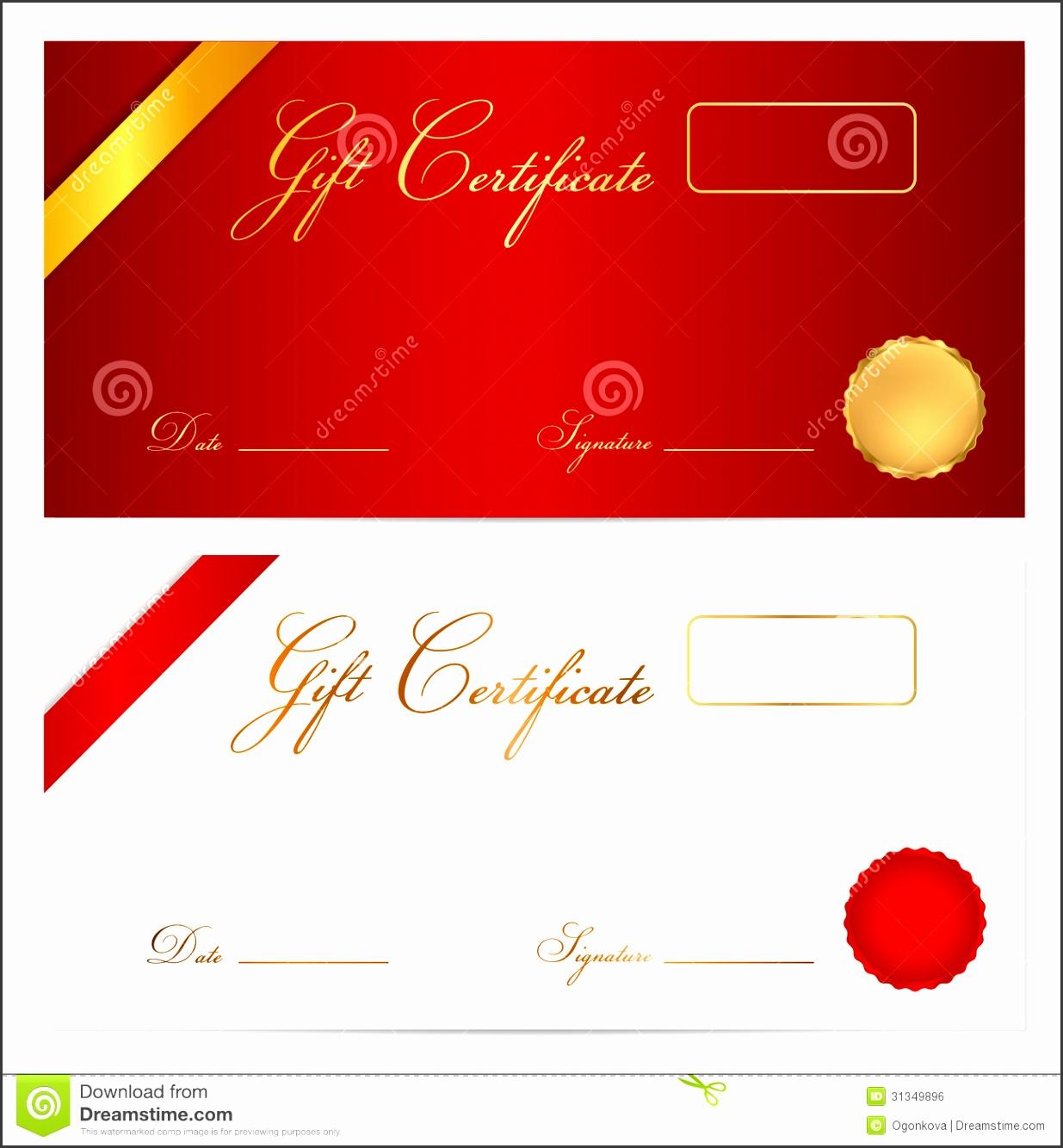 Gift certificate Voucher template Wax seal