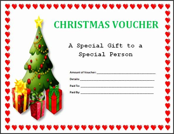 Gift Voucher Template Free regarding Christmas Gift Voucher Template Free Download