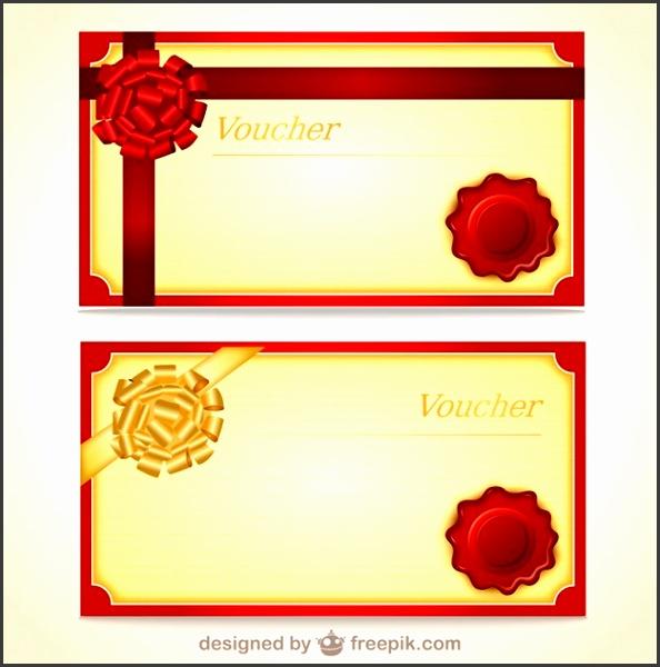 Voucher Templates Free Vector