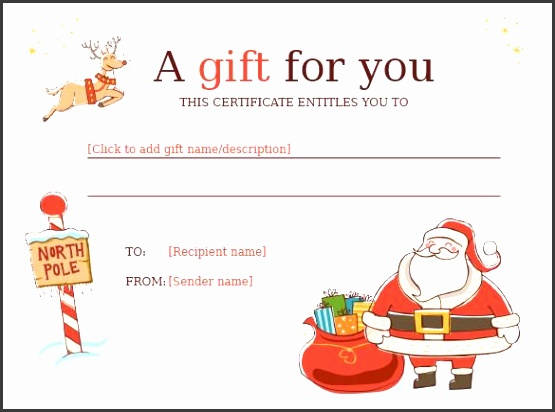 Christmas Gift Certificate Template 11 Word Pdf Documents regarding Christmas Gift Certificate Templates Free