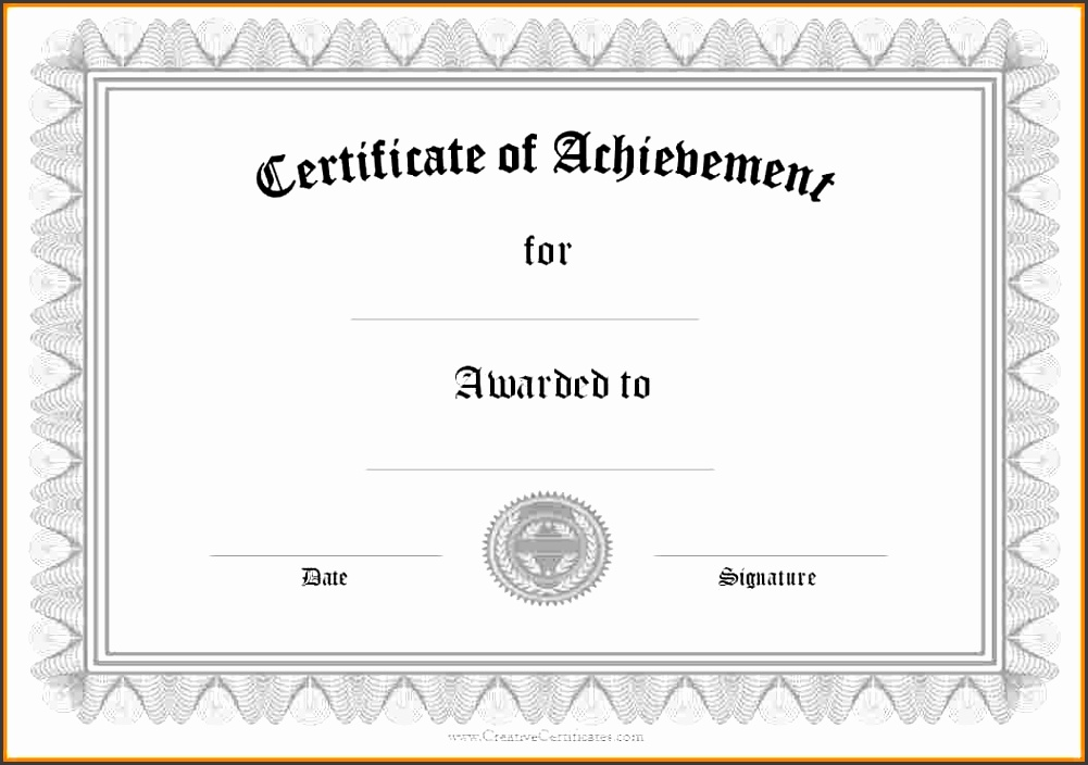 free printable achievement certificate templates Free Printable Achievement Certificate Template