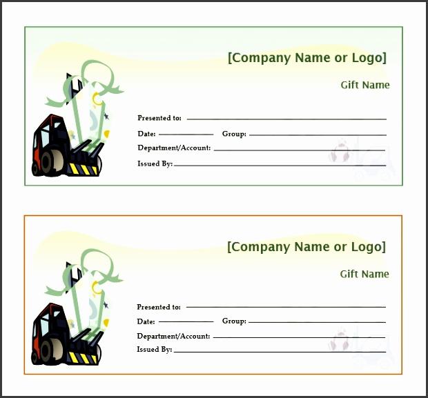 Acheivement Gift Certificate Template