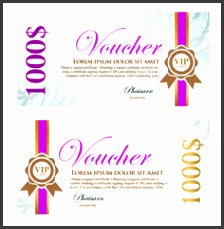 Excellent voucher template vector design 01 vector other free Free Design File