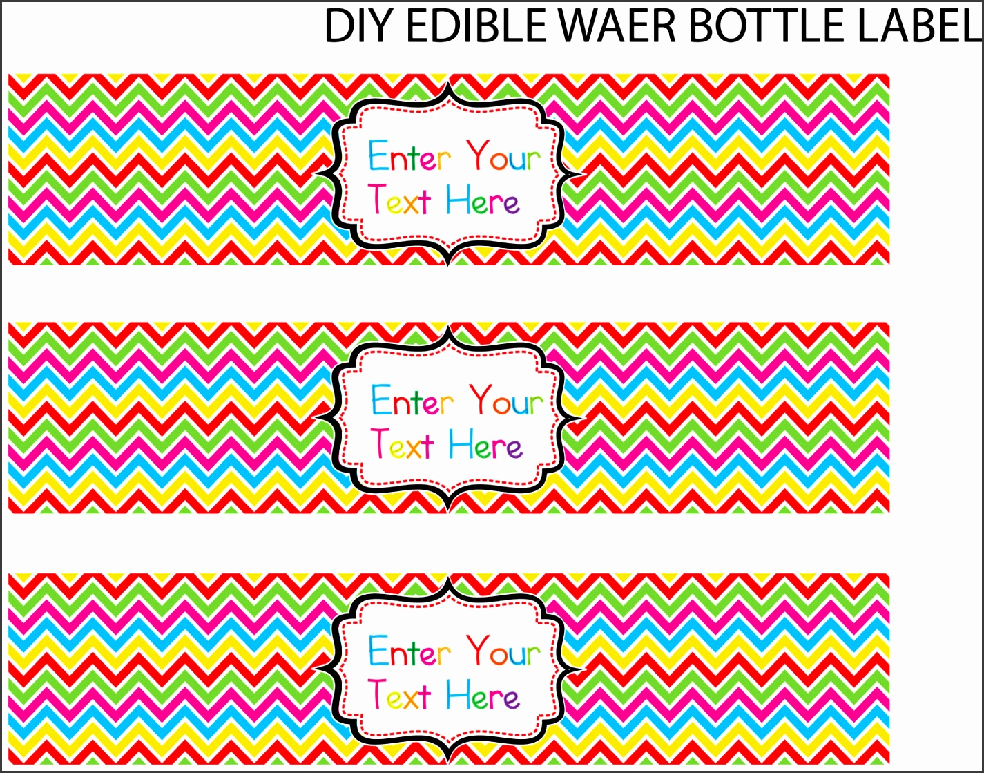 Water Bottle Label Template Microsoft Word