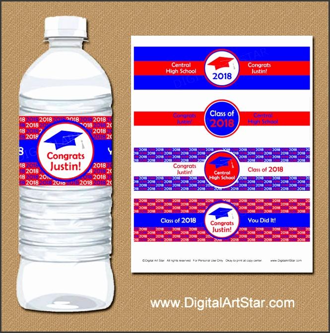 Printable Graduation Water Bottle Labels