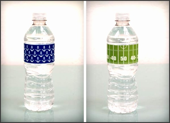 DIY waterbottle label