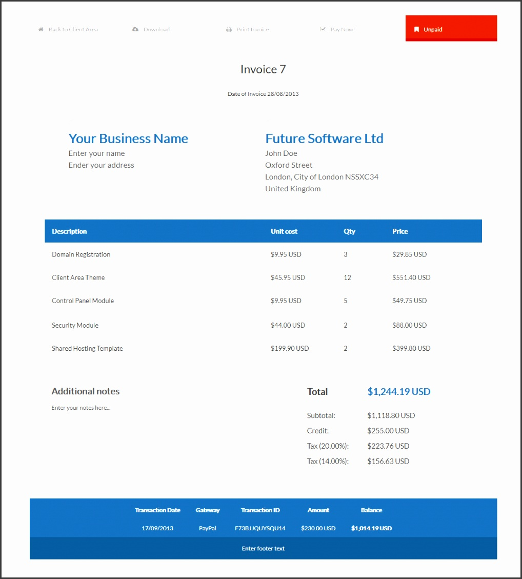 Professional Invoice Template Example Website Invoicet1 Efzxnv Best Free Cool Word