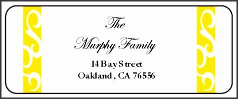 "OL875 2 625"" x 1"" Savannah Collection Orange Wedding Address Label"