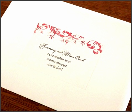 Guests will love the charm that a matching address label adds to your wedding invitation suite