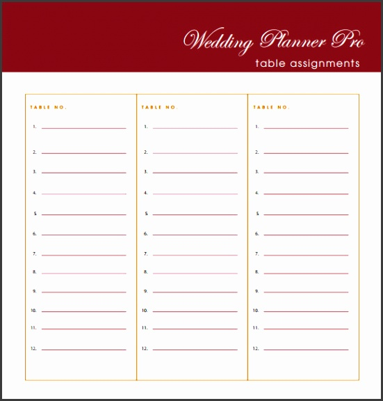 Free Wedding Guest List Templates Excel Pdf Formats