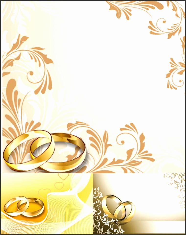 Floral wedding invitation card designs vector