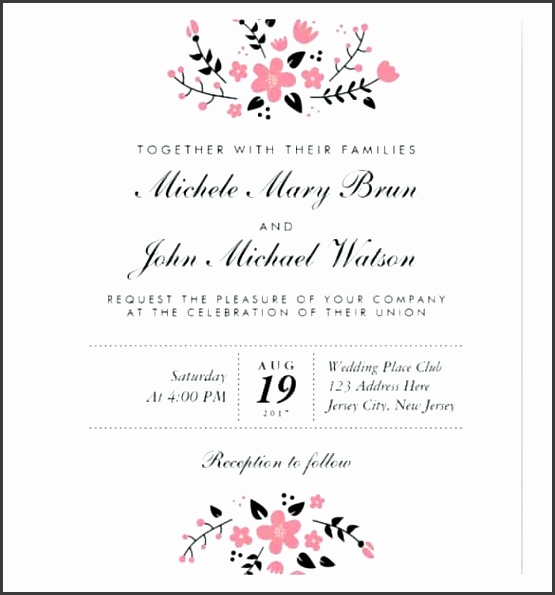 Wedding Announcement Templates For Word Wedding Invitation Template 71 Free Printable Word Pdf Psd