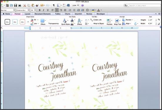garden bouquet printable wedding invitation template step1
