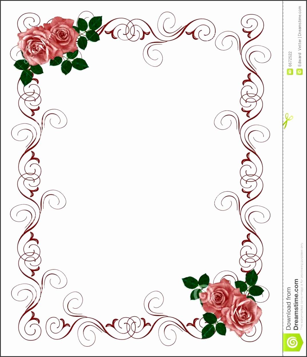 Floral Blank Wedding Invitation Templates