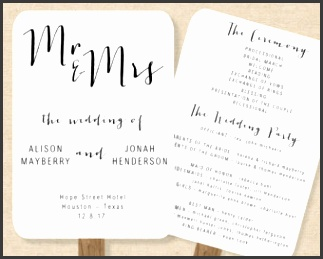 Wedding Fan Program Template Rustic Order of Service Printable Wedding Fan Editable Wedding