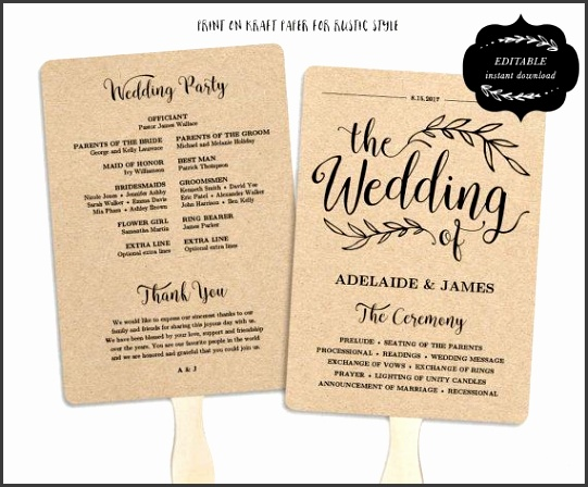 This is an INSTANT DOWNLOAD printable wedding program template that is affordable stylish and high