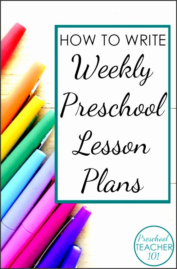 Use this free preschool lesson plan template to help you write your weekly preschool lesson plans