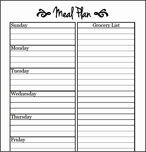Blank Weekly Menu Template With Printable Meal Planning Templates To Simplify Your Life
