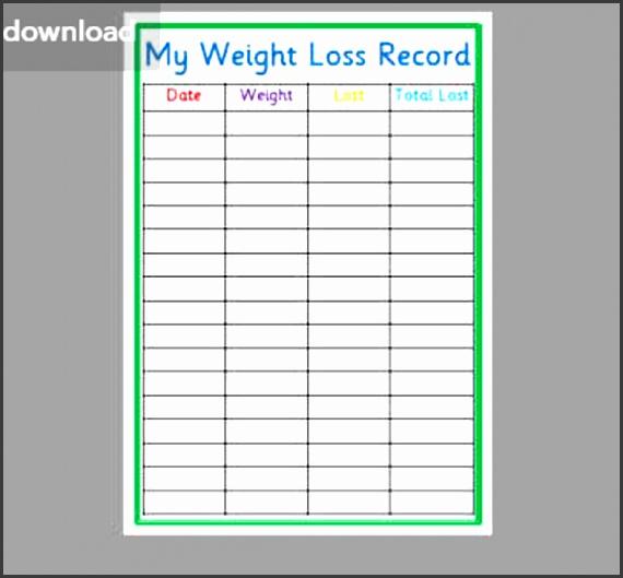 5 weight loss template - sampletemplatess