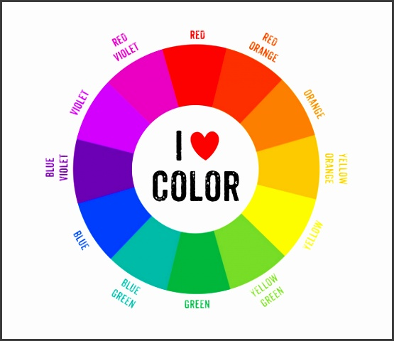 MS Word 2010 Format Color Wheel Chart Template Free Download