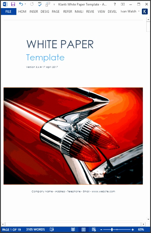 white paper template ms word automobile