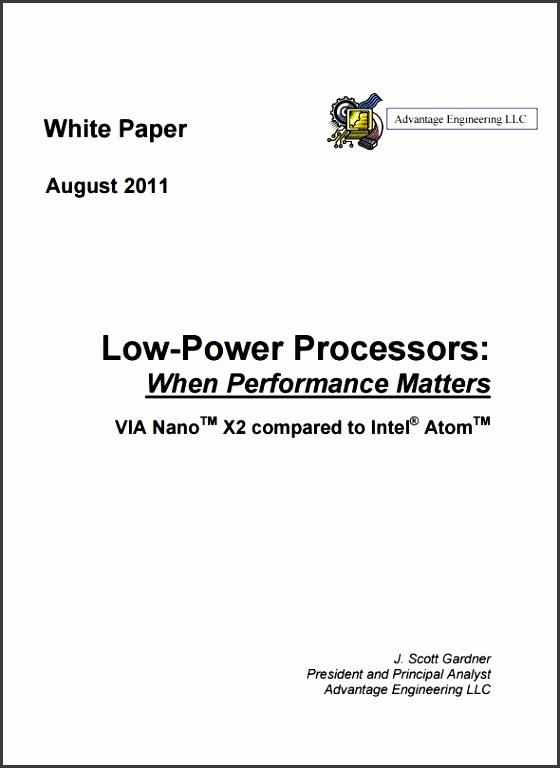 White paper design template