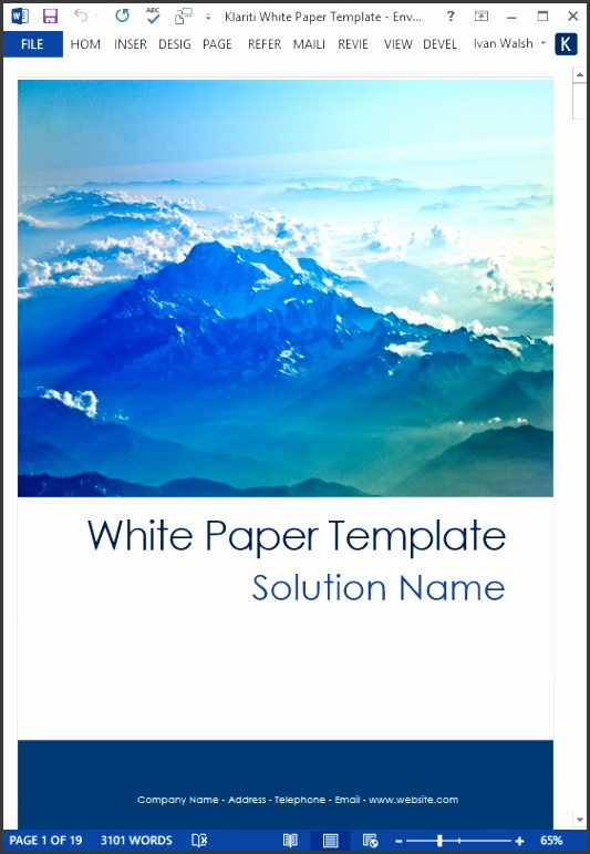 15 White Paper Templates for only $19 99