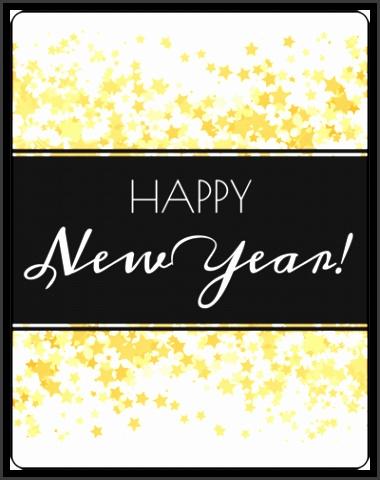 "OL162 3 75"" x 4 75"" ""Happy New Year "" Wine Bottle · """