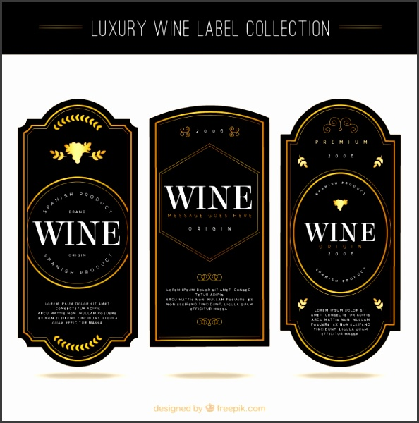 Collection of elegant wine tags