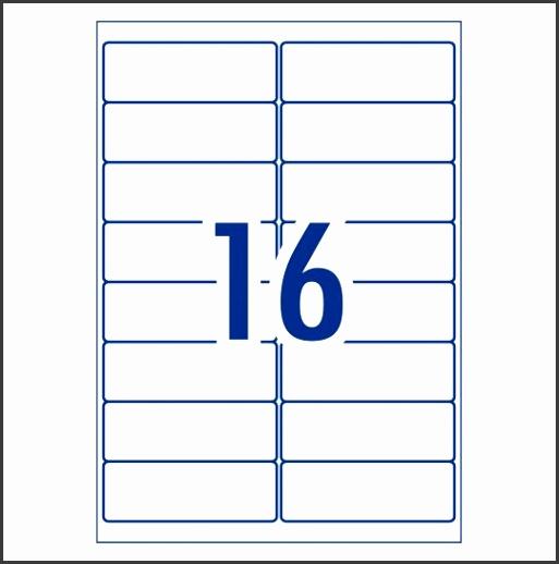 Address Labels 99 1 x 34 mm 16 per sheet