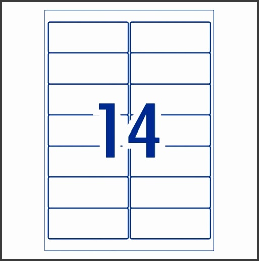 Address Labels 99 1 x 38 1 mm 14 per sheet