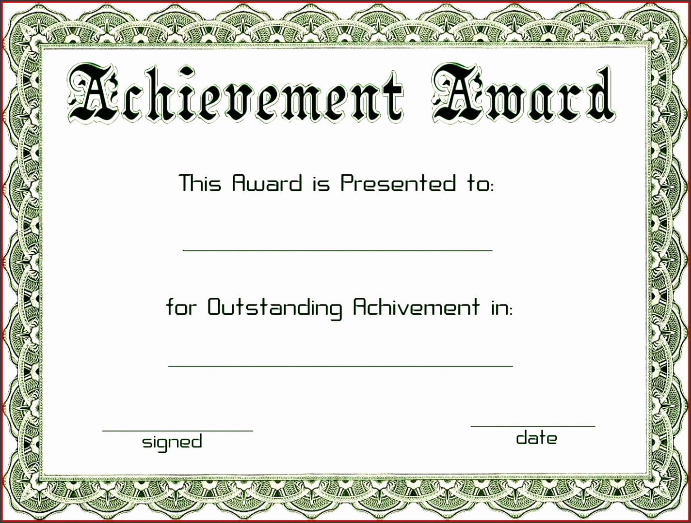 Awesome Achievement Award Template Word Loan Agreement Form
